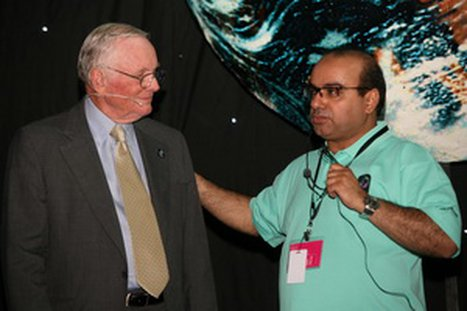 Neil Armstrong takes Zain's annual ACE management meeting to the moon